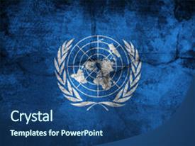 5000 united nations powerpoint templates w united nations themed slide deck consisting of grunge flag of united nations background and a ocean colored foreground toneelgroepblik Images