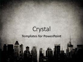 Amazing PPT theme having grunge image of new york backdrop and a light gray colored foreground.