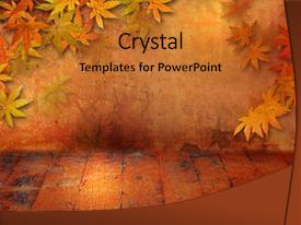 Amazing presentation design having grunge style with fall backdrop and a gold colored foreground.