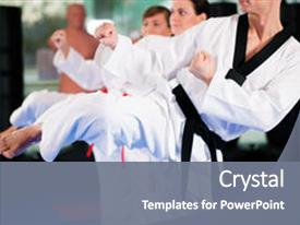 5000 martial arts powerpoint templates w martial arts themed slide deck featuring gym in martial art background and a gray colored foreground toneelgroepblik Gallery