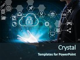 5000 internet powerpoint templates w internet themed backgrounds ppt layouts having hand holding with virtual screen cloud computing and interface icons global network cyber toneelgroepblik Gallery