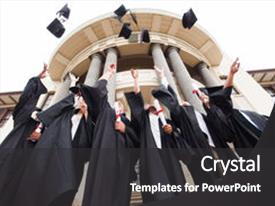 3000 multicultural education powerpoint templates w multicultural beautiful slide deck featuring happy graduates throwing graduation backdrop and a dark gray colored foreground toneelgroepblik Choice Image