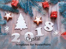theme consisting of happy new year 2018 background background and a light gray colored foreground