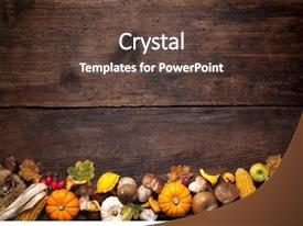 Fall Leaves Border For Thanksgiving Powerpoint Templates W