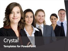 Beautiful presentation featuring heads up a young business backdrop and a dark gray colored foreground.