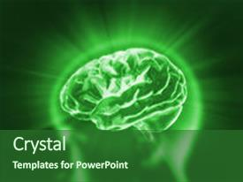 Theme having health concept - x-ray brain to represent background and a forest green colored foreground.