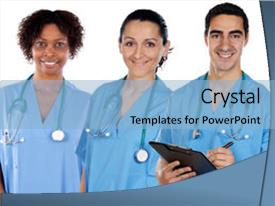 Top medical assistant powerpoint templates backgrounds slides and slide set featuring health people multi ethnic medical background and a light blue colored toneelgroepblik Choice Image