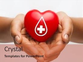 Slide set with healthcare medicine and blood donation background and a red colored foreground
