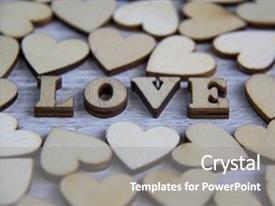 Beautiful presentation featuring heart shape from natural tree lovely heart shape by wooden small hearts on rustic wood table love theme concept with wooden hearts for valentine s background and love theme wooden leters i love you backdrop and a gray colored foreground.