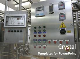 Slide deck enhanced with electrical safety - high tech - industrial control background and a gray colored foreground.