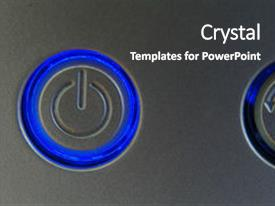 PPT layouts enhanced with high tech - power button background and a  colored foreground.
