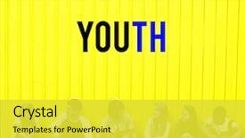Cool new slide deck with hipster freedom youth teenager graphic backdrop and a yellow colored foreground