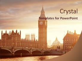 5000 historical architecture powerpoint templates w historical ppt theme with history big ben and westminster at background and a lemonade colored foreground toneelgroepblik Image collections