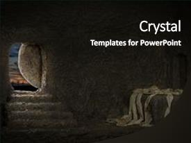 Slide deck consisting of history - empty tomb of jesus background and a black colored foreground.