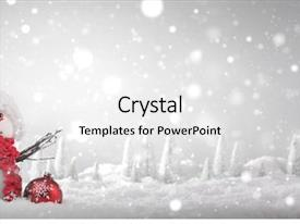 Slide deck featuring holiday - snowman with christmas gift background and a white colored foreground