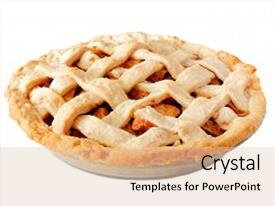 5000 pie powerpoint templates w pie themed backgrounds presentation enhanced with homemade apple with lattice pastry isolated on a white background toneelgroepblik Choice Image