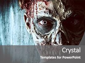 5000 horror zombie powerpoint templates w horror zombie themed cool new slide set with horrible scary zombie man horror backdrop and a gray colored foreground toneelgroepblik Choice Image