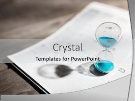Slide deck consisting of hour-glass-on-calendar-concept background and a light gray colored foreground