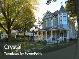 4000 victorian age powerpoint templates w victorian age themed colorful presentation enhanced with houston heights victorian style houses backdrop and a dark gray colored foreground toneelgroepblik Gallery