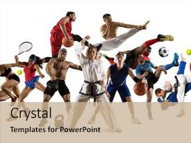 Multi Sports Powerpoint Templates W Multi Sports Themed Backgrounds
