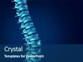 5000 medical bone powerpoint templates w medical bone themed beautiful presentation theme featuring skeletal human spine concept as medical backdrop and a ocean colored toneelgroepblik Images