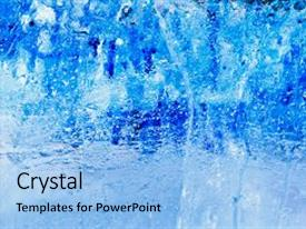 PPT layouts with pattern frost crystal winter design background and a light blue colored foreground.