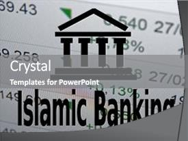 1000 islamic banking powerpoint templates w islamic banking themed presentation theme consisting of icon and inscription islamic banking background and a gray colored foreground toneelgroepblik Images