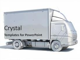 Slide deck with transport - icon transporting service freight transportation background and a light gray colored foreground.