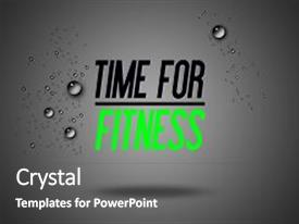 Cool new PPT layouts with fitness - illustration - inspirational - card backdrop and a gray colored foreground.