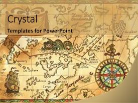 Continents powerpoint templates ppt themes with continents amazing presentation theme having continent illustration of old pirate map backdrop and a yellow colored toneelgroepblik Images