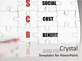 Presentation design consisting of image of business acronym scba background and a light gray colored foreground.