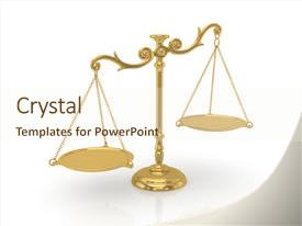 Slide deck consisting of balance - imbalance - golden scales 3d background and a cream colored foreground.