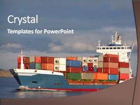 powerpoint template import export colourful containership on the approach bagyexb. Black Bedroom Furniture Sets. Home Design Ideas