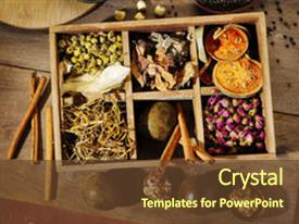 5000 herbal medicine powerpoint templates w herbal medicine themed ppt theme with ingredient for chinese herbal medicine background and a tawny brown colored foreground toneelgroepblik Images