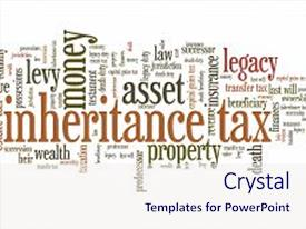 PPT theme consisting of inheritence - inheritance tax - personal finance background and a sky blue colored foreground.