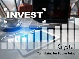 PPT theme featuring invest return on investment financial background and a light gray colored foreground.