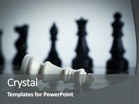 Amazing presentation design having is on the chess board backdrop and a gray colored foreground