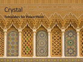 5000 islam powerpoint templates w islam themed backgrounds ppt theme consisting of islamic calligraphy and colorful geometric background and a gold colored foreground toneelgroepblik Images