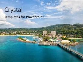 5000 jamaica powerpoint templates w jamaica themed backgrounds ppt layouts having island of ocho rios jamaica background and a light blue colored foreground toneelgroepblik Gallery