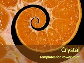 PPT layouts consisting of isolated on black orange slice spiral swirl abstract fractal background orange slice spiral background pattern impossible abstract orange food fractal background surreal orange mandarin fruit swirl abstract fractal background and a  colored foreground.