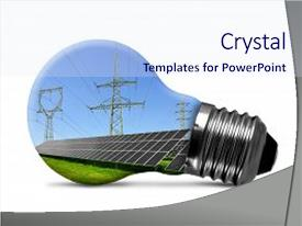 PPT layouts with innovation - isolated on white green energy background and a sky blue colored foreground