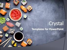 5000 japanese powerpoint templates w japanese themed backgrounds ppt layouts having japanese sushi on a rustic background and a gray colored foreground toneelgroepblik Images