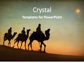 Beautiful PPT theme featuring jesus - three kings looking backdrop and a gray colored foreground