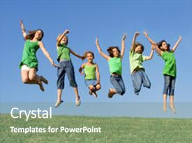 PPT Theme Featuring Joy At Summer Camp Background And A Gray Colored Foreground