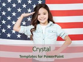 Captain america powerpoint templates crystalgraphics amazing slide deck having joy while standing against america backdrop and a soft green colored foreground toneelgroepblik Gallery