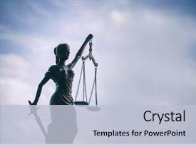 Cool new slide deck with justice background - legal law backdrop and a light blue colored foreground