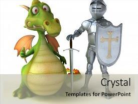 5000 knight powerpoint templates w knight themed backgrounds presentation enhanced with and dragon 3d illustration background and a light gray toneelgroepblik Choice Image