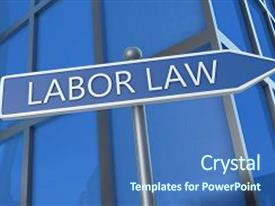 Slide deck enhanced with labor law - illustration with street background and a ocean colored foreground