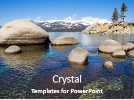 PPT theme enhanced with lake tahoe background and a ocean colored foreground