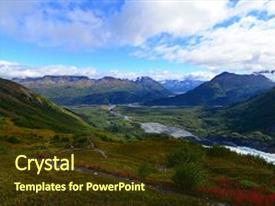 Cool new slide deck with landscape view of exit glacier national park alaska usa backdrop and a tawny brown colored foreground